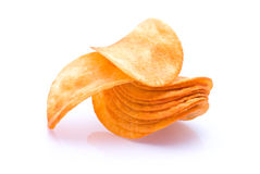 Heap of Potato Chips Royalty Free Stock Photography
