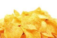 Heap of potato chips Stock Images
