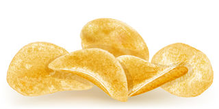 Heap of potato chips Royalty Free Stock Image