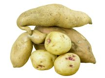 Heap of potatoes Royalty Free Stock Images