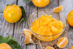 Heap of Preserved Tangerines Stock Images