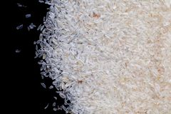 Heap of psyllium husk. Closeup stock photography