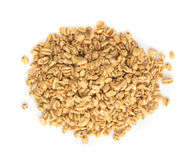 Heap of Puffed Wheat Snack Isolated. Healthy Cereal Vegetarian or Vegan Food royalty free stock photography