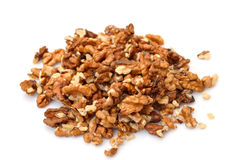 Heap Purified Walnuts Stock Photo