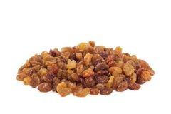 Heap of raisin isolated. On the white background Stock Photography
