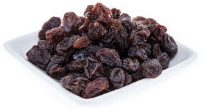 Heap of Raisins isolated on white Stock Photography