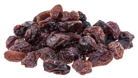 Heap of Raisins isolated on white Stock Photos