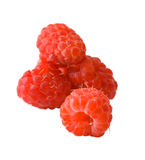 Heap of raspberry. Isolated heap of raspberry on white background stock photos