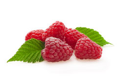 Heap of raspberry on a wooden background Royalty Free Stock Image