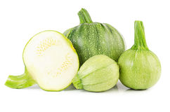 Heap of raw courgettes Royalty Free Stock Photo
