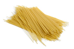 Heap of raw dried spaghetti Stock Photography