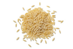 Heap of raw orzo pasta Stock Photography