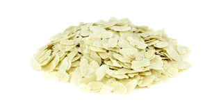 Heap of raw puffed rice poha isolated on white Royalty Free Stock Photography
