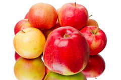 Heap of red apples on white Royalty Free Stock Images