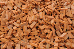 Heap of red brick. The Construction materials Stock Photography