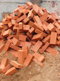 Heap of red brick Royalty Free Stock Images
