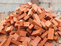 Heap of red brick Stock Image