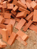 Heap of red brick Royalty Free Stock Photography