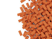 Heap of Red Bricks Royalty Free Stock Photos