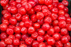 Heap of red cherries preserves for retail sale in Thailand market Royalty Free Stock Images