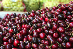 Heap of red cherry Royalty Free Stock Photos
