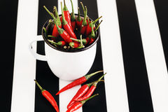 Heap of Red Chili Pepper Royalty Free Stock Images