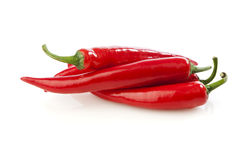 Heap of chili peppers Stock Photos