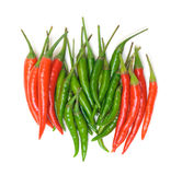 Heap Red and Green Chilli Hot Peppers Stock Photography
