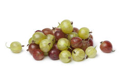 Heap of red and green Gooseberries Stock Photo
