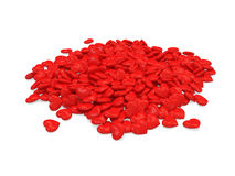 Heap of Red Hearts Stock Photos