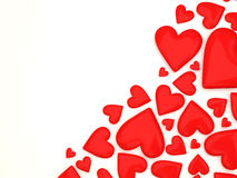 Heap of Red Hearts on white background Stock Photo