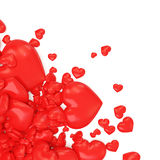 Heap of Red Hearts on white background Royalty Free Stock Photo