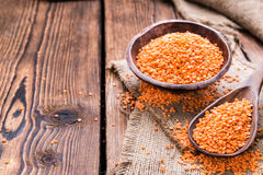 Heap of Red Lentils Stock Image
