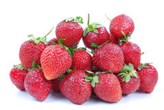 Heap of red- ripe strawberry Royalty Free Stock Photo