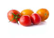 The heap of red and yellow tomatoes Royalty Free Stock Photo