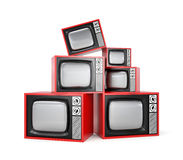 Heap of Retro TV Royalty Free Stock Photo