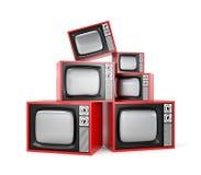 Heap of Retro TV Royalty Free Stock Photo