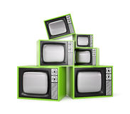 Heap of Retro TV. Look more TV in my gallery vector illustration