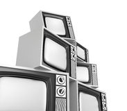 Heap of retro tv Royalty Free Stock Photos