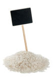 Heap of  rice  with a pointer for your text Royalty Free Stock Images