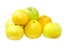 The heap of ripe apples.Isolated. Stock Image