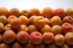 Heap of ripe apricots stock photography