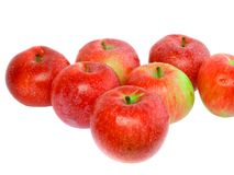 Heap  of ripe, red apples. Royalty Free Stock Image
