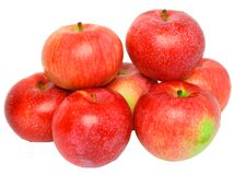 Heap  of ripe, red apples. Isolated. Royalty Free Stock Photography