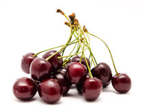 Heap of ripe sweet cherry isolated Stock Image