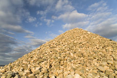 Heap of a riverstone Stock Photography