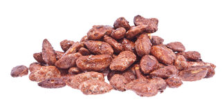 Heap of roasted almonds (with clipping path) Stock Photo