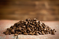 Heap of roasted coffee beans Stock Image