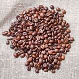 Heap of roasted coffee beans Royalty Free Stock Image
