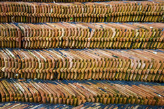 Heap of roofing tiles Royalty Free Stock Photos